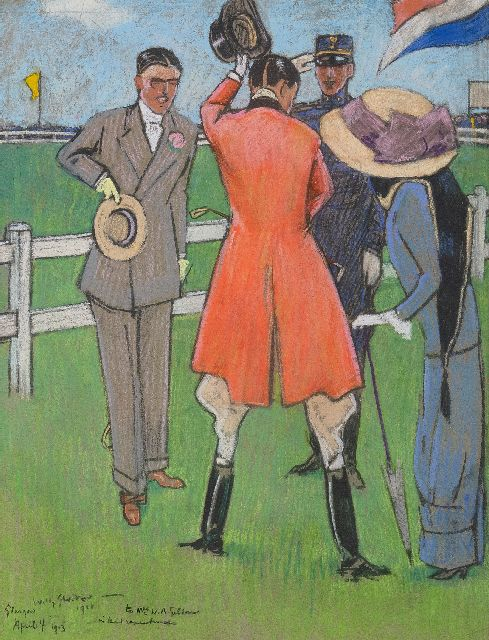 Willy Sluiter | On the racecourse, pastel on paper, 40.5 x 32.0 cm, signed l.l. and dated April 4 1911