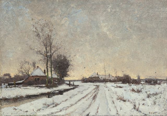 Paul Bodifée | A winter landscape, Overijssel, oil on canvas, 70.3 x 100.0 cm, signed l.r. and dated '96