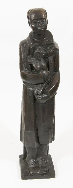 Cantré J.  | Ecce homo, bronze 81.3 cm, signed on the base