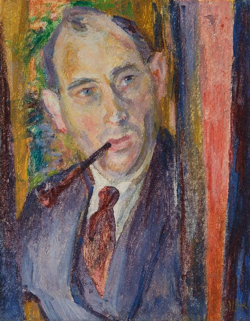 Altink J.  | Self portrait, oil on canvas 54.4 x 42.1 cm, signed l.r. and painted circa 1925