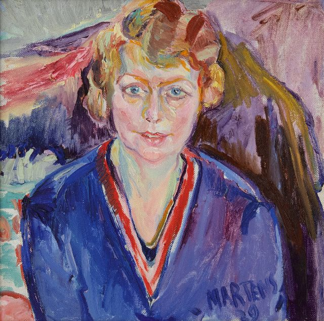 George Martens | Portrait of a woman, oil on canvas, 50.4 x 50.2 cm, signed l.r. and dated '29