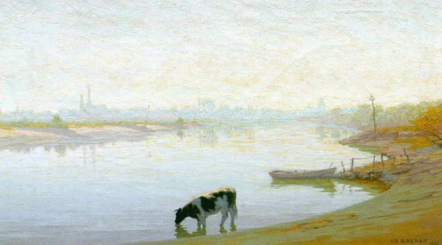 Co Breman | September morning, oil on canvas, 41.0 x 70.0 cm, signed l.r. and dated 1933