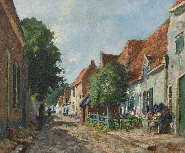 Jan van Vuuren | A sunny day in Elburg, oil on canvas, 50.0 x 60.0 cm, signed l.r.