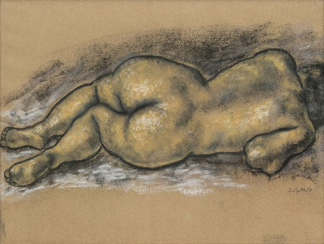 Leo Gestel | Reclining nude, charcoal and pastel on paper, 47.0 x 62.5 cm, signed l.r. and dated '31