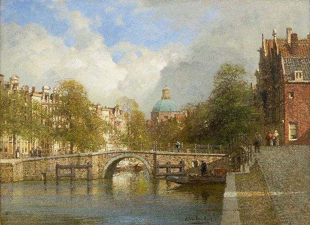 Karel Klinkenberg | The Singel in Amsterdam near the Brouwersgracht, oil on canvas, 39.1 x 53.5 cm, signed l.r.