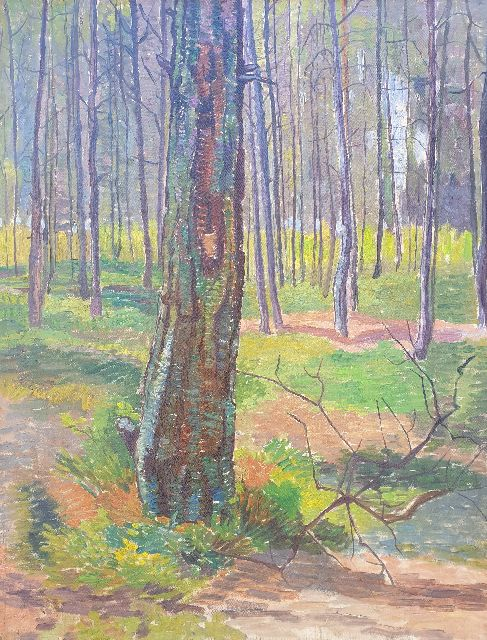 Edith Pijpers | Forest, oil on canvas, 48.4 x 37.7 cm