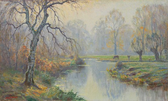 Johan Meijer | Autumn morning, Blaricum, oil on canvas, 60.5 x 100.5 cm, signed l.l.