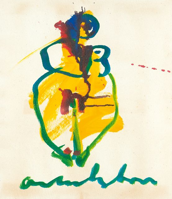 Heyboer A.  | Woman, gouache on paper, 69.0 x 61.0 cm, signed l.c.