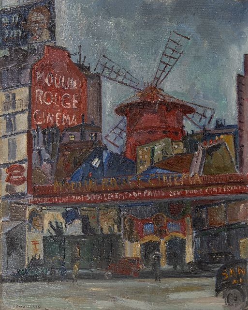 Dirk Filarski | Moulin Rouge, oil on canvas, 81.5 x 65.5 cm, signed l.l. and dated '30