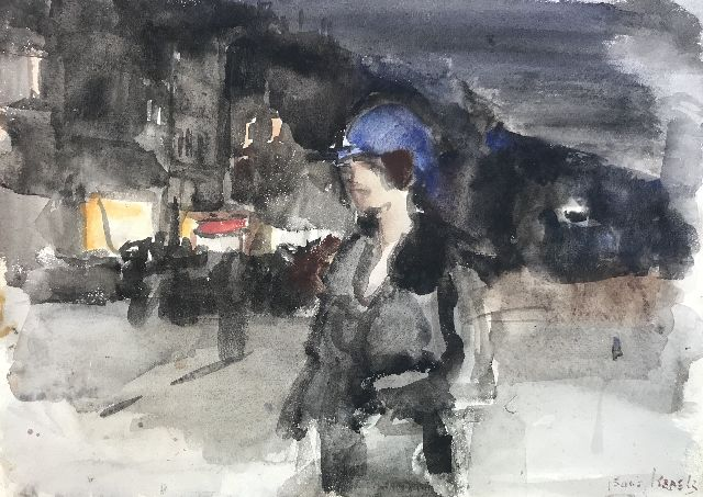 Israels I.L.  | -, watercolour on paper 36.0 x 44.5 cm