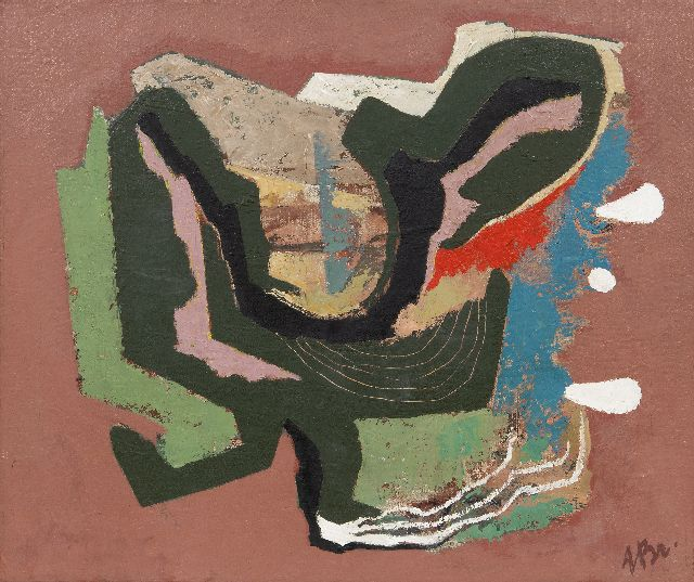 Breetvelt A.  | Abstract, oil on canvas 50.3 x 60.3 cm, signed l.r. and painted end 1940's