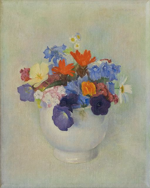 Jan Wittenberg | Flower still life, oil on canvas, 29.8 x 24.0 cm, signed u.r. and painted ca. 1940