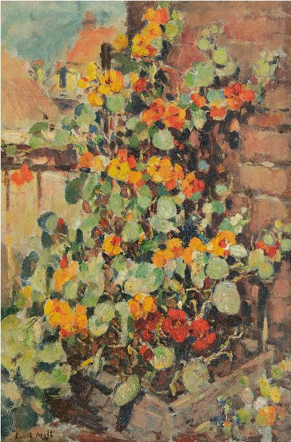 Evert Moll | Nasturtium, oil on canvas, 60.1 x 40.0 cm, signed l.l.