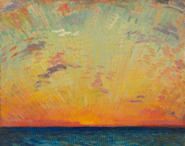 Willy Sluiter | Sunset in the Indian Ocean, oil on canvas, 40.2 x 50.2 cm, signed l.r. and dated '23