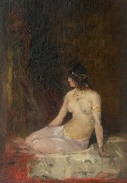 Hobbe Smith | Seated nude, oil on canvas laid down on panel, 50.0 x 35.5 cm