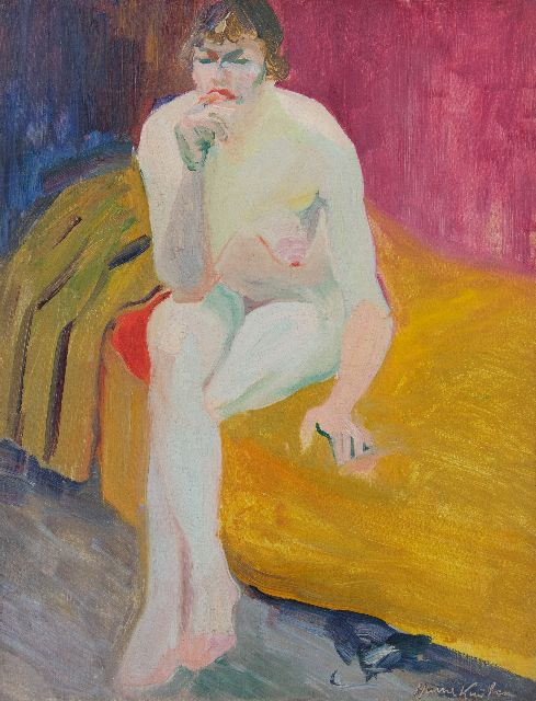 Harrie Kuijten | Seated nude, oil on canvas, 53.0 x 40.7 cm, signed l.r.