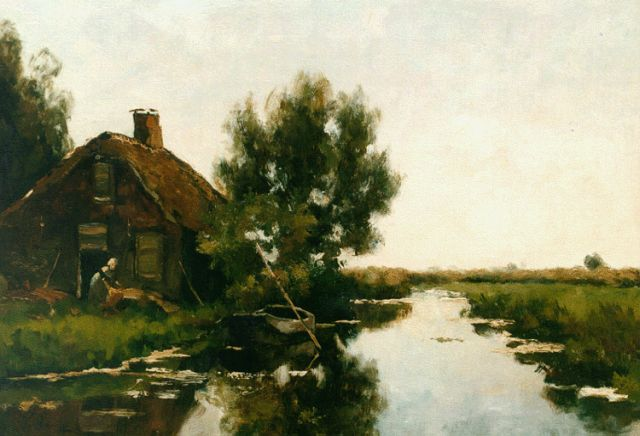 Victor Bauffe | A Dutch polder landscape, oil on canvas, 35.4 x 50.0 cm, signed l.l.