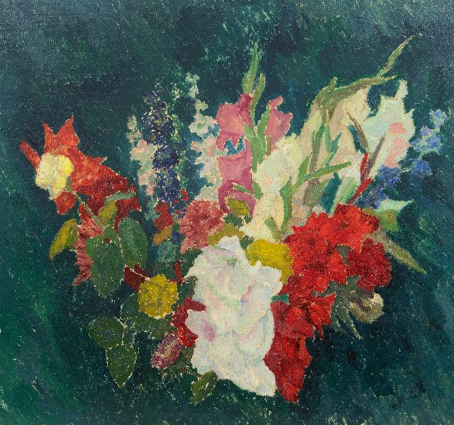 Jan Herwijnen | Summer flowers, oil on canvas, 75.3 x 80.0 cm, signed l.r. with initials and dated '58