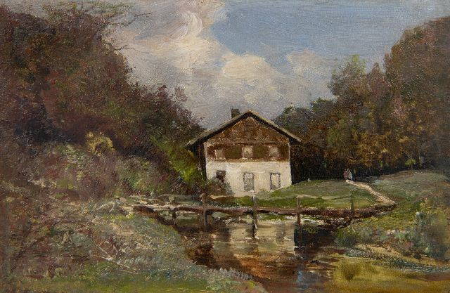 Apol L.F.H.  | Hotel Beekhuizen in Velp, oil on canvas 14.3 x 21.5 cm, signed l.l. and GERESERVEERD