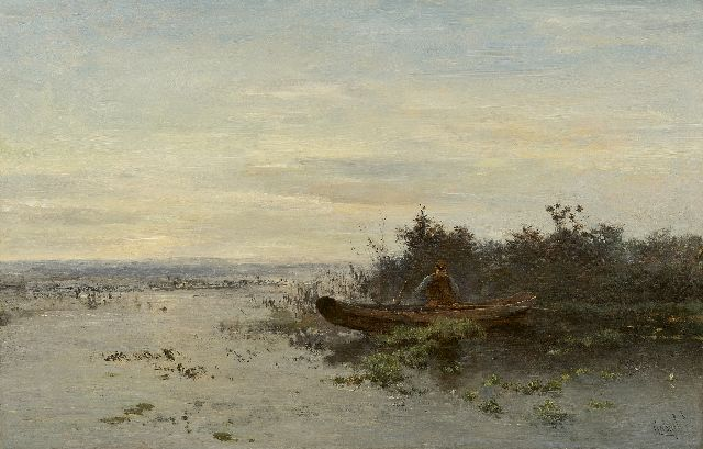 Gabriel P.J.C.  | The first sea bass (early morning), oil on canvas 54.3 x 83.4 cm, signed l.r.