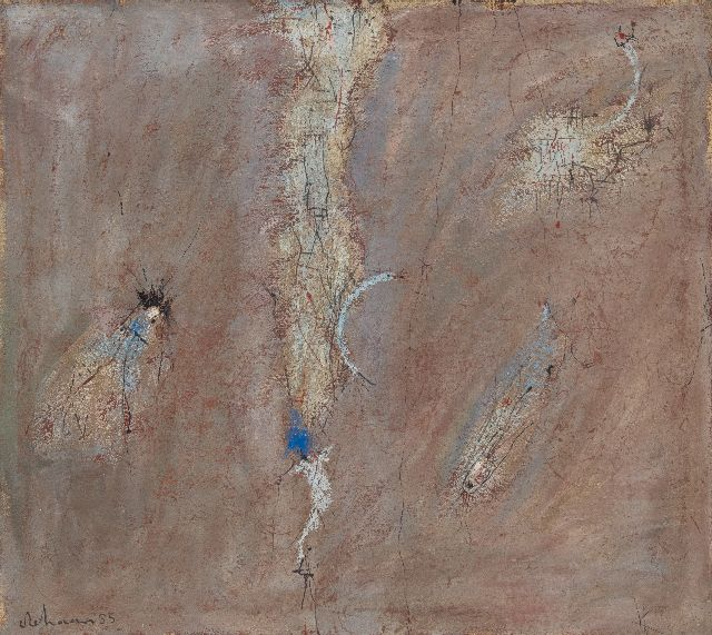 Wim de Haan | Untitled, oil on canvas, 90.1 x 100.4 cm, signed l.l. and dated '55
