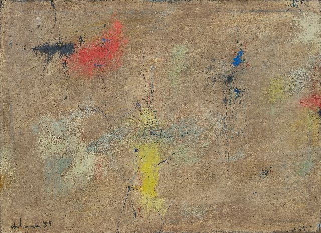Wim de Haan | Untitled, oil on canvas, 80.0 x 110.5 cm, signed l.l. and dated '55