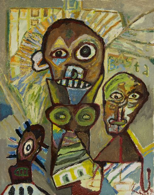 Lucebert | Basta, oil on canvas, 100.0 x 80.0 cm, signed l.r. and dated '90