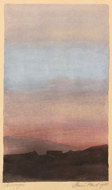 Plaat H.E.  | Amorgos, gouache on paper 22.7 x 13.8 cm, signed l.r. (in pencil) and dated 1985  (in pencil)