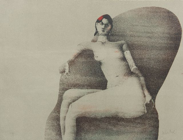 Wunderlich P.  | Joanna Posing for Redfern, 1968, lithograph on paper 50.0 x 65.0 cm, signed l.r. (in pencil)