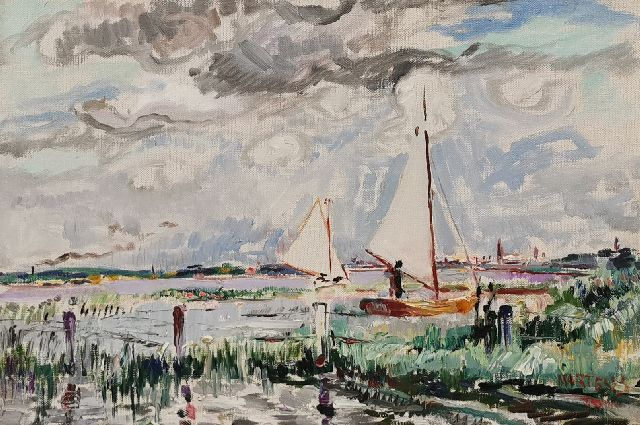 George Martens | A view of the Paterswold lake, Groningen, oil on canvas, 33.0 x 48.0 cm, signed l.r. and dated '30