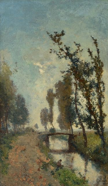 Paul Joseph Constantin Gabriel | Morning twilight, oil on canvas, 60.5 x 35.9 cm, signed l.r.