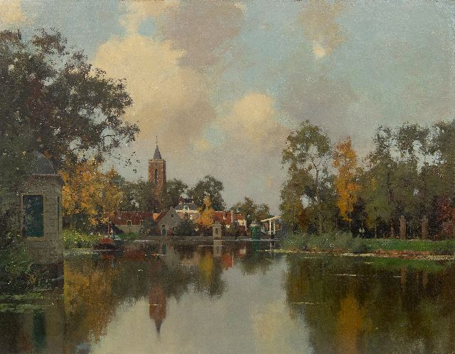 Evert Jan Ligtelijn | A view of Loenen aan de Vecht, oil on canvas laid down on panel, 70.5 x 90.3 cm, signed l.l. and dated 1939