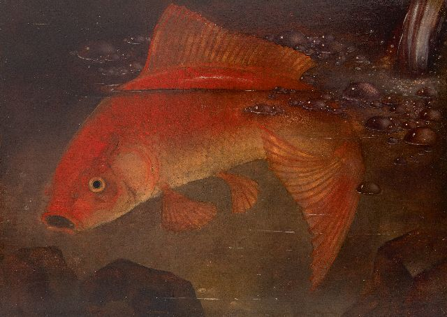 Jemmy van Hoboken | Goldfish, oil on panel, 23.8 x 33.0 cm, signed l.r. and dated 1930