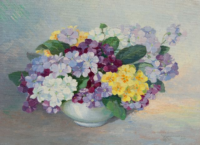 Joh. H. Kaemmerer | Spring flowers, oil on canvas, 30.3 x 40.2 cm, signed l.r.