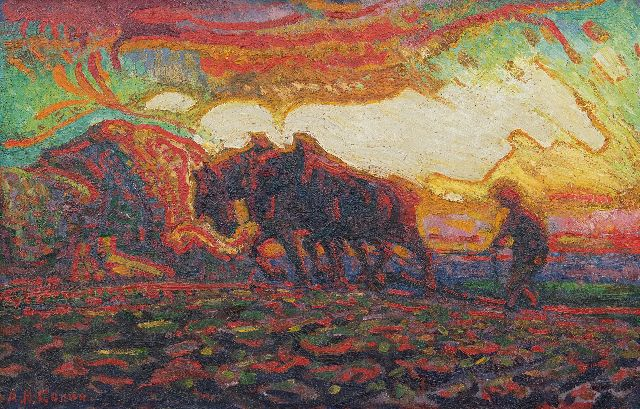 Gouwe A.H.  | -, oil on canvas 31.4 x 48.4 cm, signed l.l. and painted ca. 1910-1915