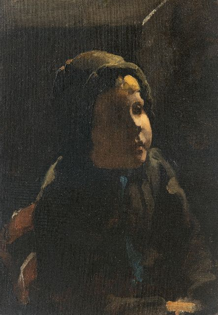 Willem Witsen | Portrait of a peasant girl, oil on painter's board, 35.5 x 25.2 cm