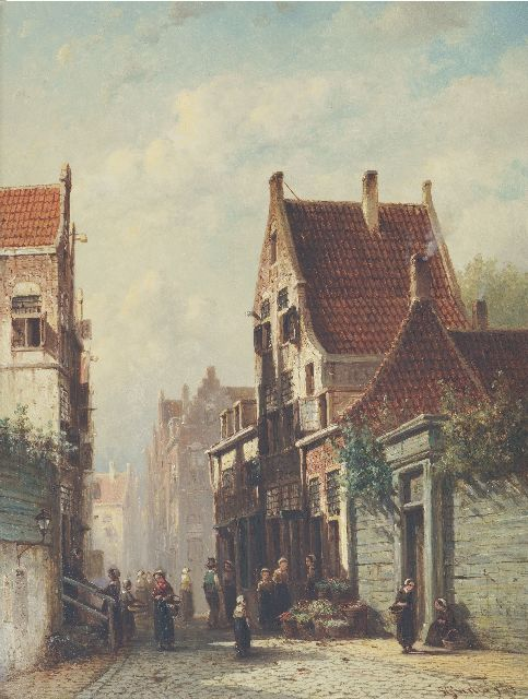 Petrus Gerardus Vertin | A sunny street with vegetable shed, oil on panel, 41.1 x 31.6 cm, signed l.r. and dated '69