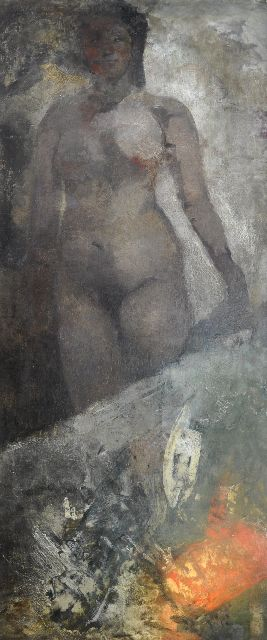 George Hendrik Breitner | Standing nude, oil on canvas, 195.0 x 80.0 cm, signed l.r. and painted ca.1878