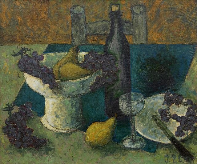 Jean-Pierre Cassigneul | Nature morte aux Raisins, oil on canvas, 54.0 x 65.0 cm, signed l.r. with initials and painted ca. 1960