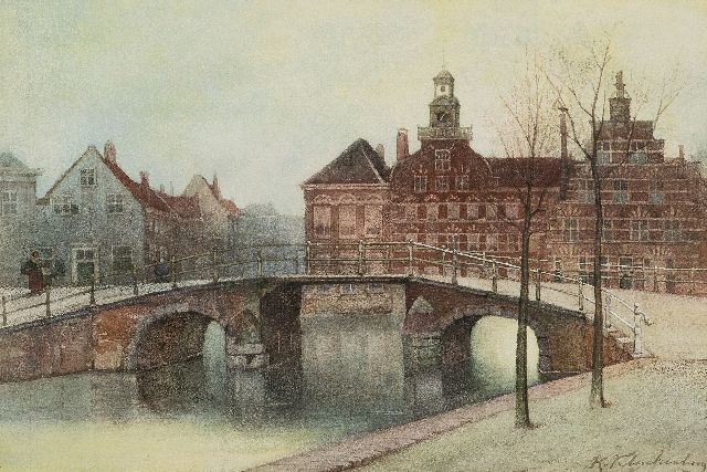 Karel Klinkenberg | The Oude Vrouwen- en Kinderhuis on the Spui in The Hague, watercolour on paper, 29.1 x 41.7 cm, signed l.r.