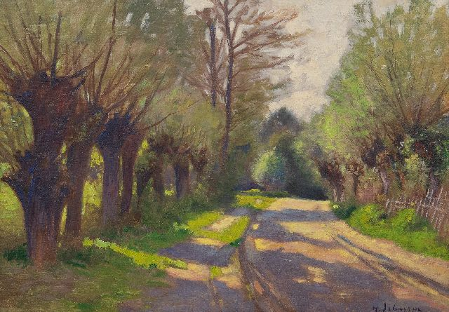 Henri Lebasque | Route ombragée, Saint-Tropez, oil on board, 32.5 x 45.5 cm, signed l.r. and painted ca. 1895