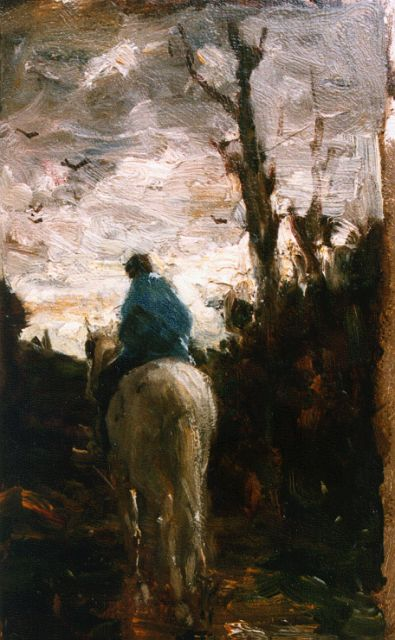 Evert Pieters | Homeward bound, oil on panel, 32.1 x 19.4 cm, signed l.r.