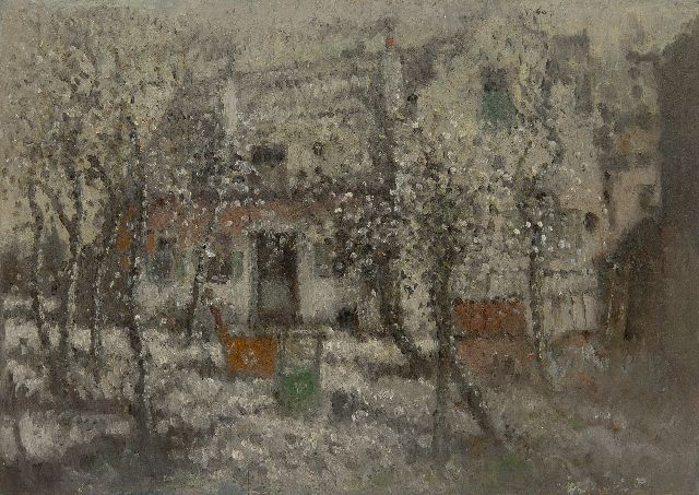 Henri van Daalhoff | Winter, oil on panel, 25.5 x 35.5 cm, signed l.r. and on the reverse