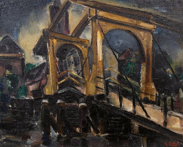 Arnout Colnot | Drawbridge, oil on canvas, 61.3 x 76.9 cm, signed l.r.