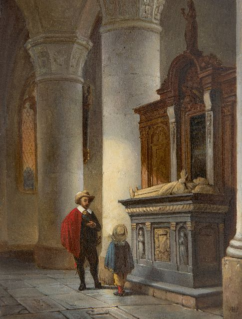 Haanen G.G.  | Remembring the Dutch history, oil on panel 21.7 x 16.6 cm, signed l.r. with initial