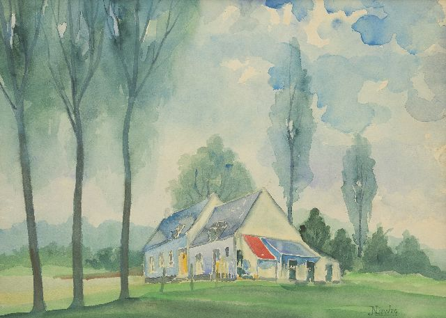 Jakob Nieweg | Country house in the summer, watercolour on paper, 30.3 x 39.5 cm, signed l.r.