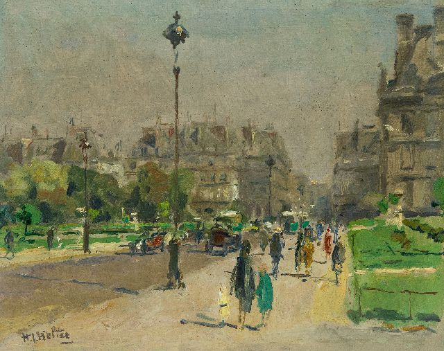 Hendrik Jan Wolter | The Jardins des Tuilleries, Paris, oil on panel, 21.5 x 27.0 cm, signed l.l.