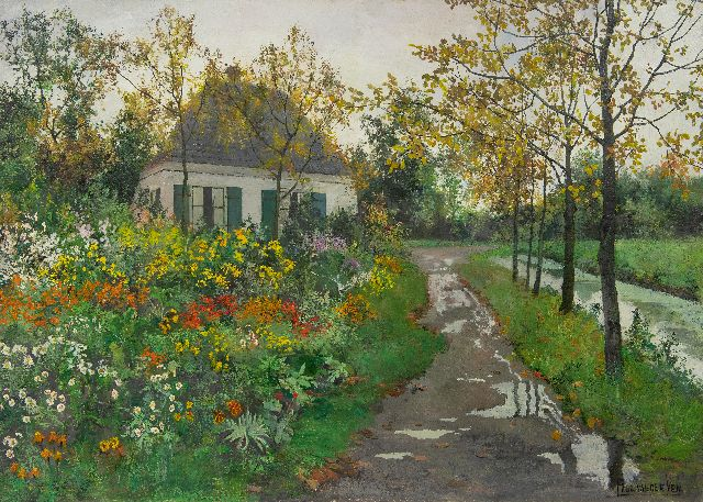 Paul van der Ven | Garden in full bloom, oil on canvas, 65.6 x 90.3 cm, signed l.r.