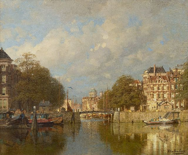 Johannes Christiaan Karel Klinkenberg | Near Leuvehaven, Rotterdam, oil on canvas, 39.3 x 47.2 cm, signed l.r.