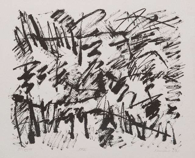 Jan Schoonhoven | Composition XXV, lithograph on paper, 49.7 x 59.7 cm, signed l.r. (in pencil) and dated 1988  (in pencil)